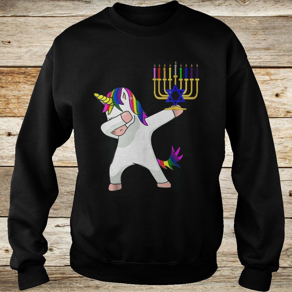 Premium Unicorn Dabbing Hanukkah shirt Sweatshirt Unisex