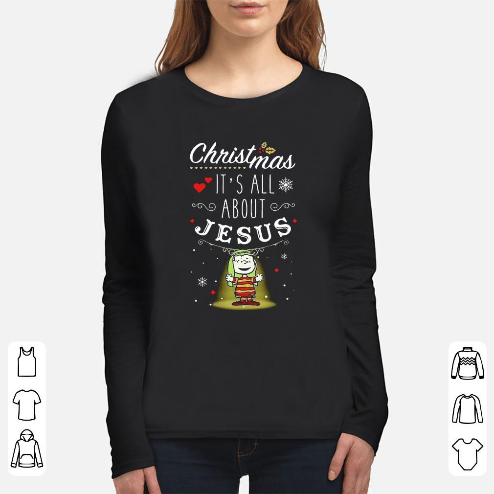 Snoopy And Charlie Brown Christmas It S All About Jesus Shirt 3 1.jpg