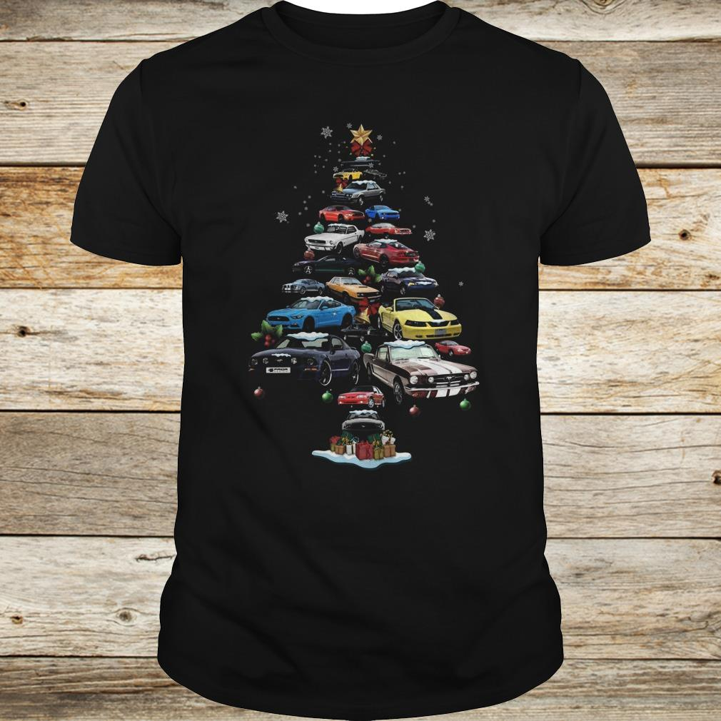 The best Mustang Car Christmas Tree sweatshirt Classic Guys / Unisex Tee