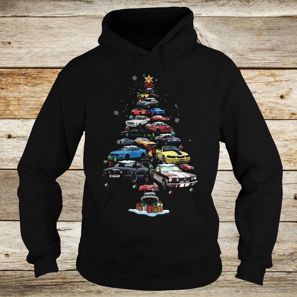 The best Mustang Car Christmas Tree sweatshirt Hoodie