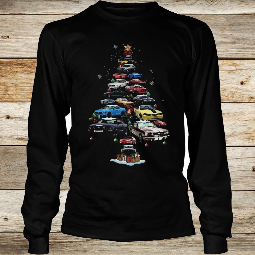 The best Mustang Car Christmas Tree sweatshirt Longsleeve Tee Unisex