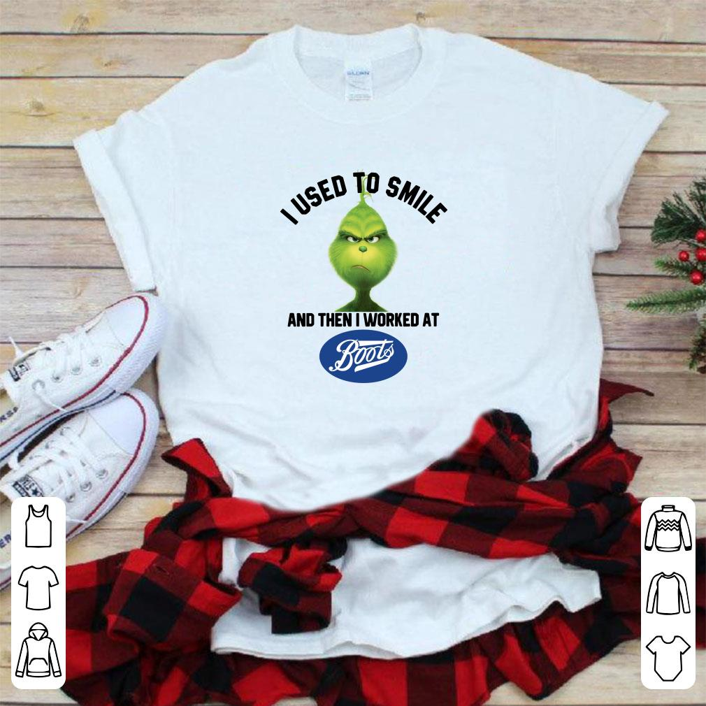 Grinch I Used To Smile And Then I Worked At Boots Shirt 1 1.jpg
