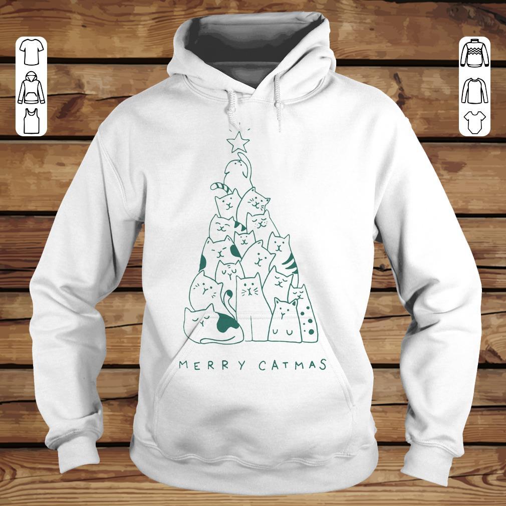 Official Merry catmas shirt longsleeve Hoodie