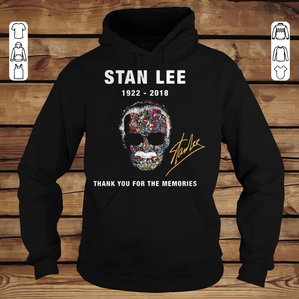 Original Thank you for the memories Stan Lee Shirt hoodie Hoodie