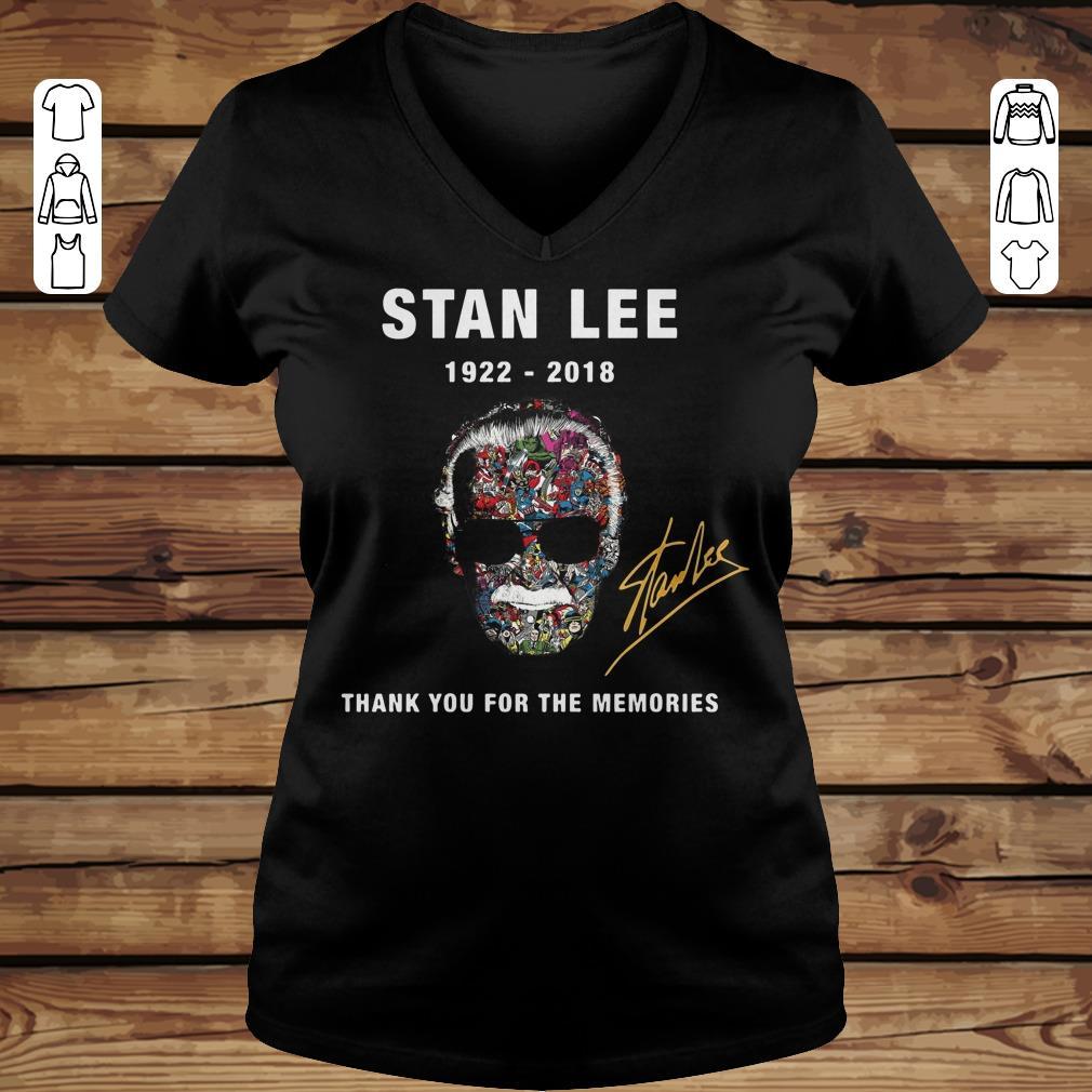 Original Thank you for the memories Stan Lee Shirt hoodie Ladies V-Neck