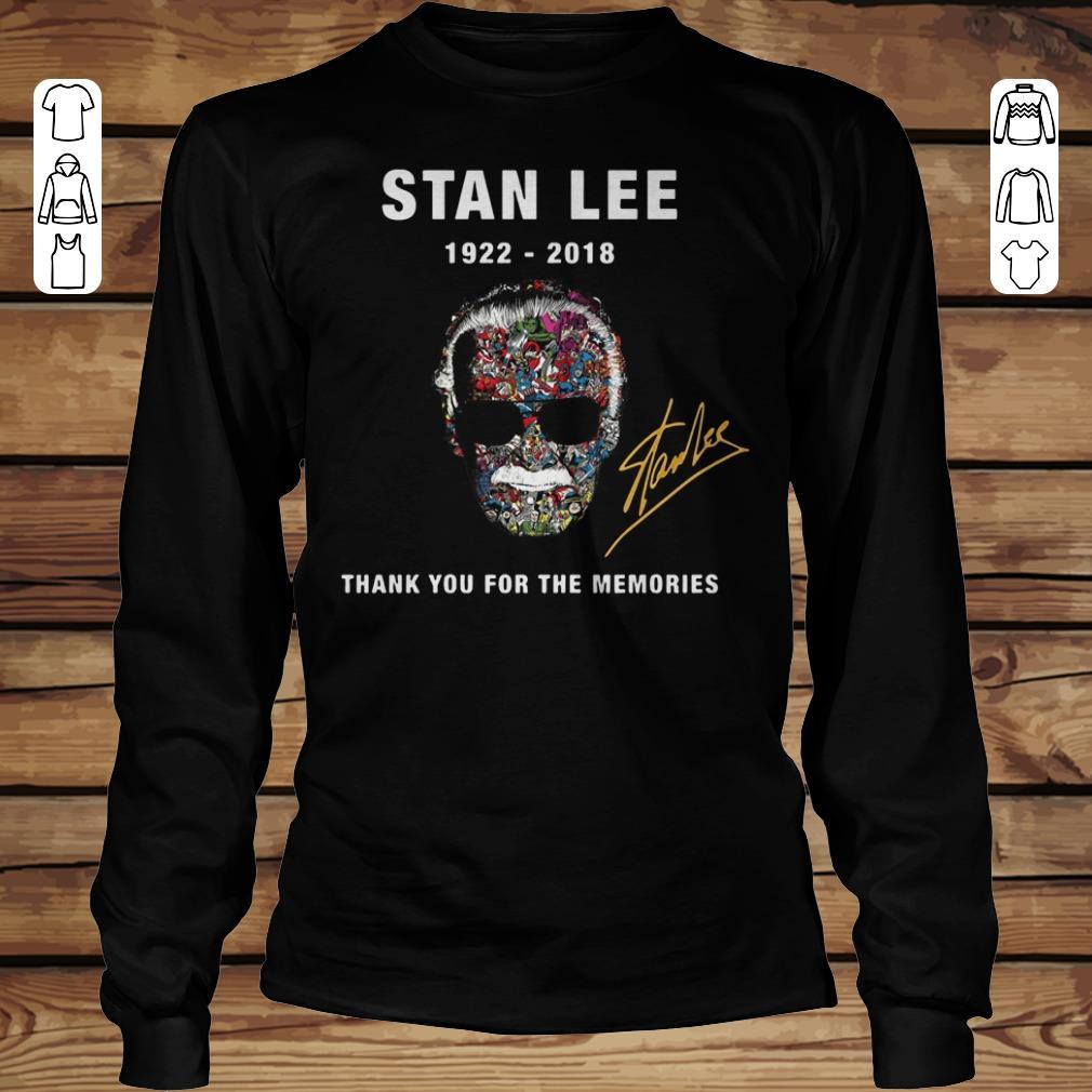 Original Thank you for the memories Stan Lee Shirt hoodie Longsleeve Tee Unisex