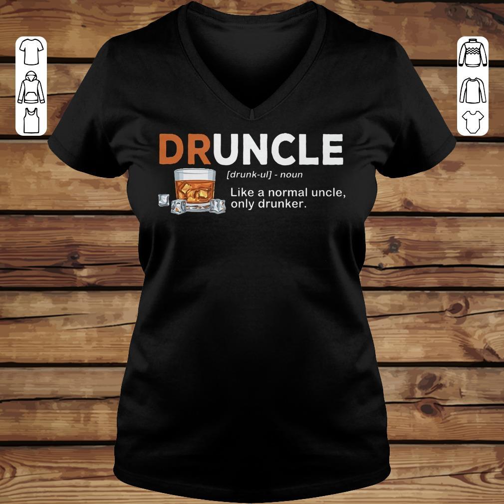 Pretty Druncle definition Shirt longsleeve Ladies V-Neck