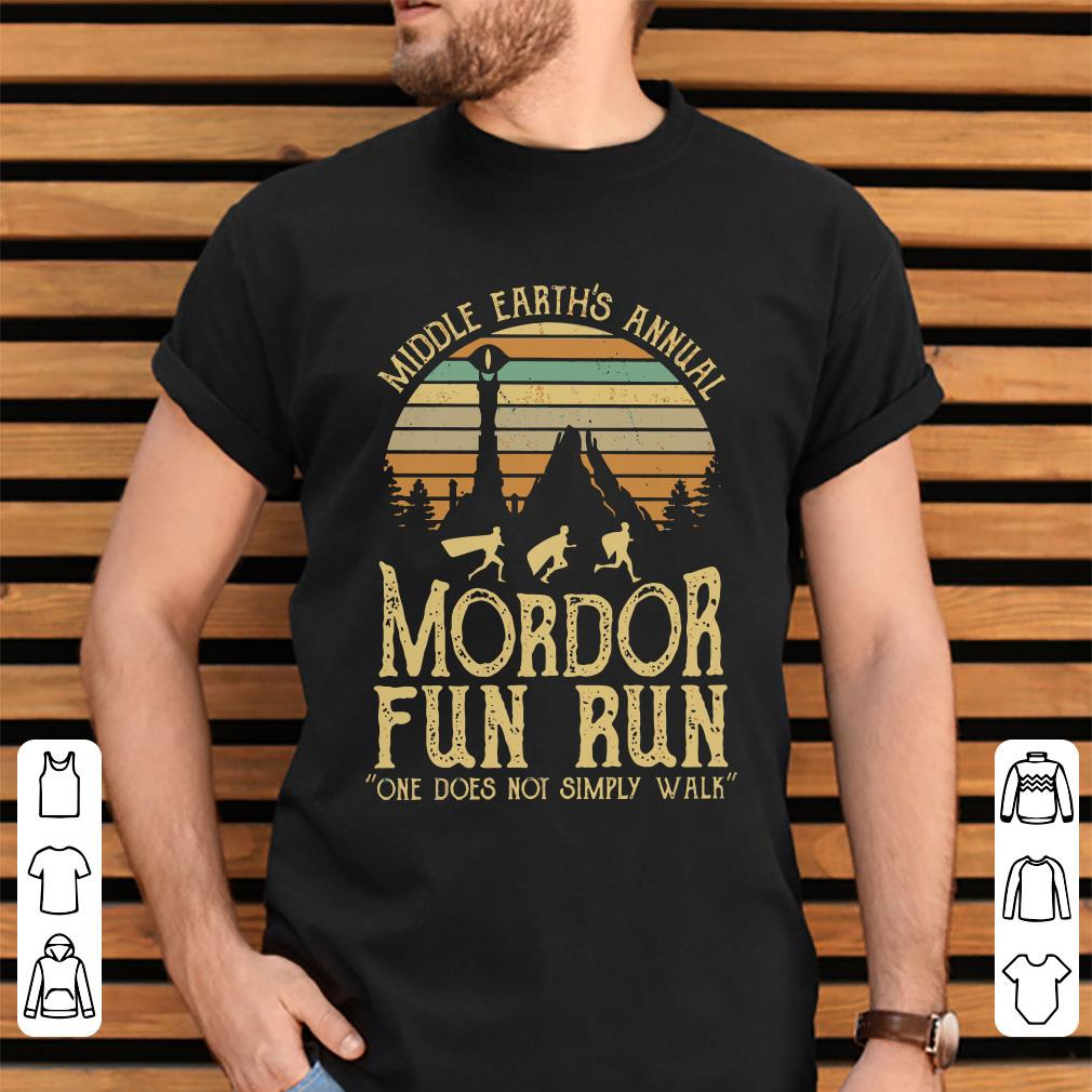 207c526b4 Sunset Middle Earth S Annual Mordor Fun Run One Does Not Simply Walk Shirt  2 1