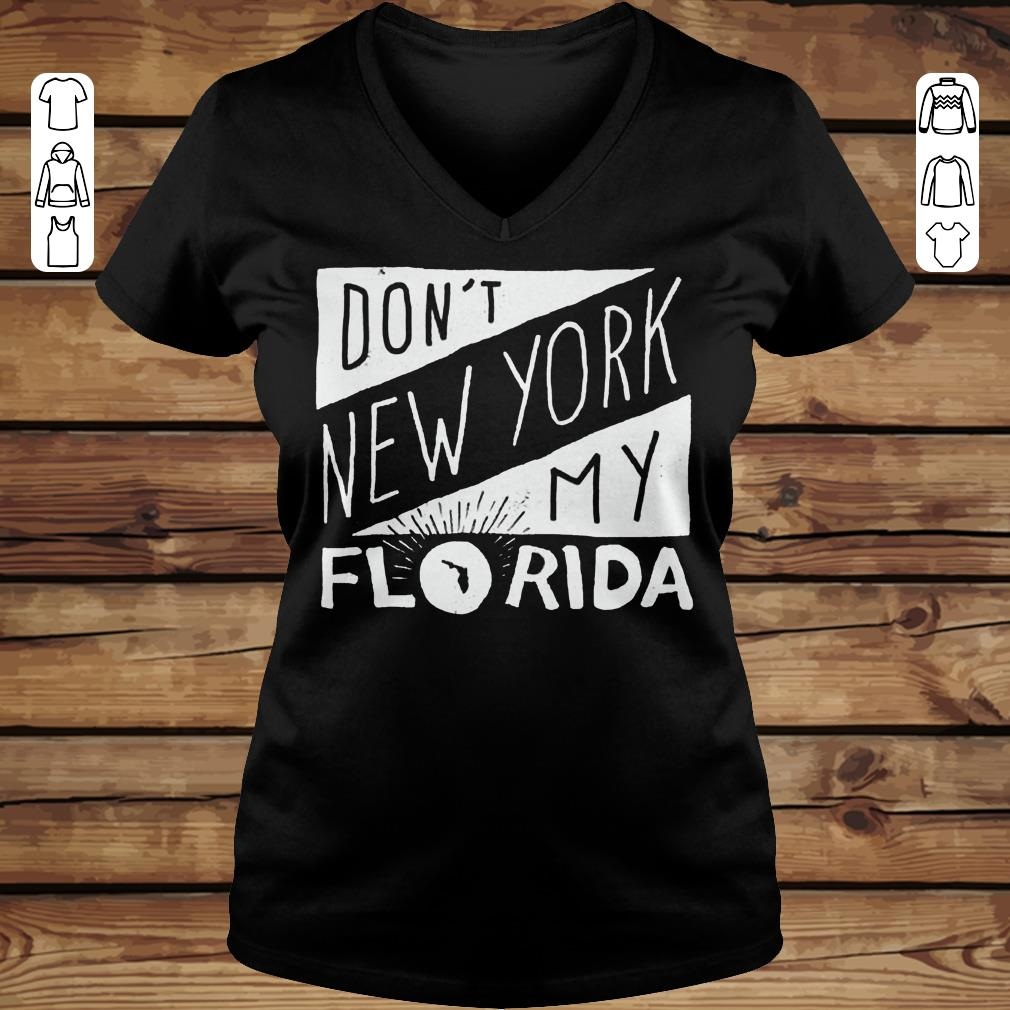 Top Don't New York My Florida Shirt longsleeve Ladies V-Neck