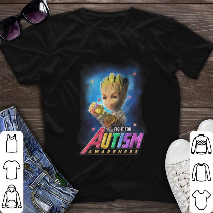 Awesome Infinity Gauntlet Baby Groot Fight For Autism Awareness Shirt 1 1.jpg