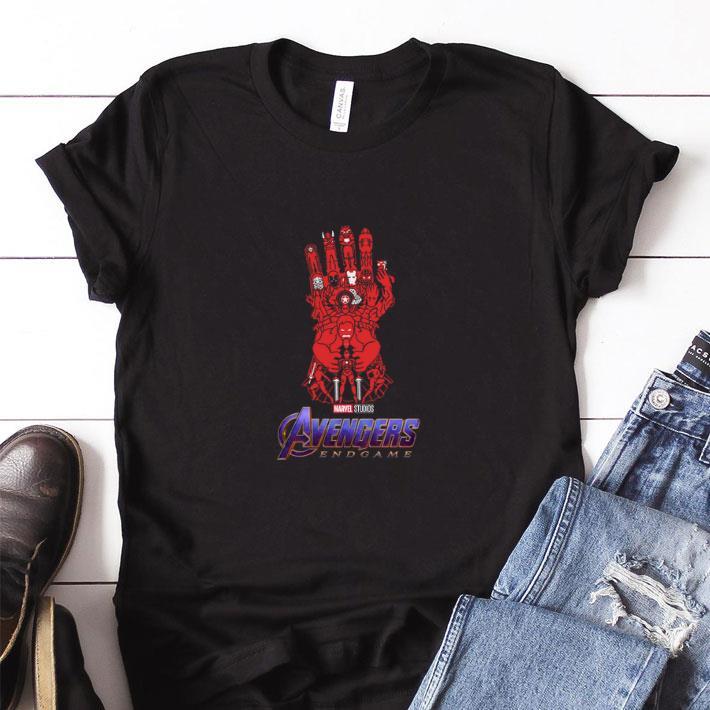 Awesome Marvel Studios Avengers Endgame Red Infinity Gauntlet Shirt 1 1.jpg