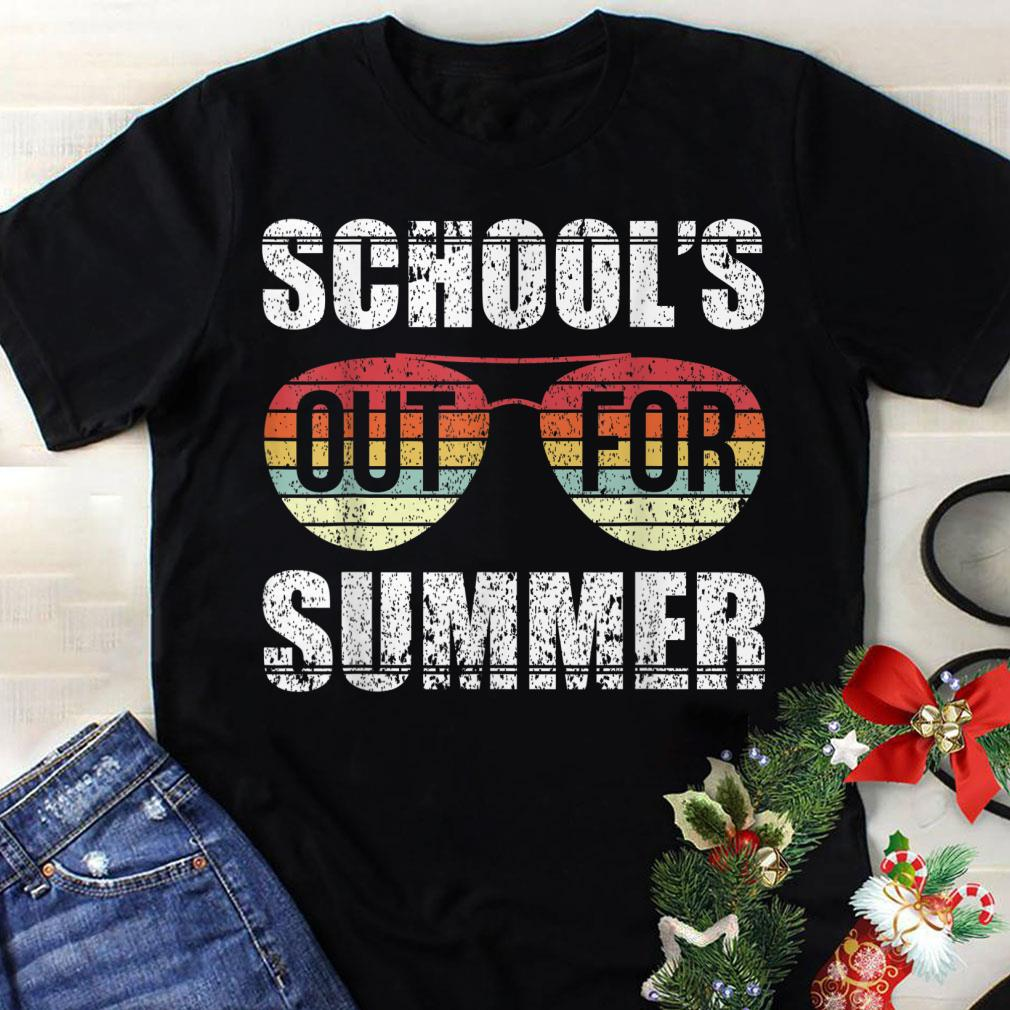 533d95a3cf Awesome Retro Last Day Of Schools Out For Summer Teacher Sunset Sunglass  shirt
