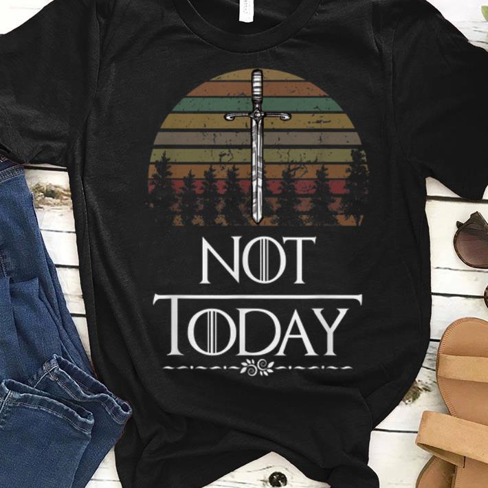 Great Heartsbane Not Today What Do We Say To The God Of Death Game Of Thrones Sunset Shirt 1 1.jpg
