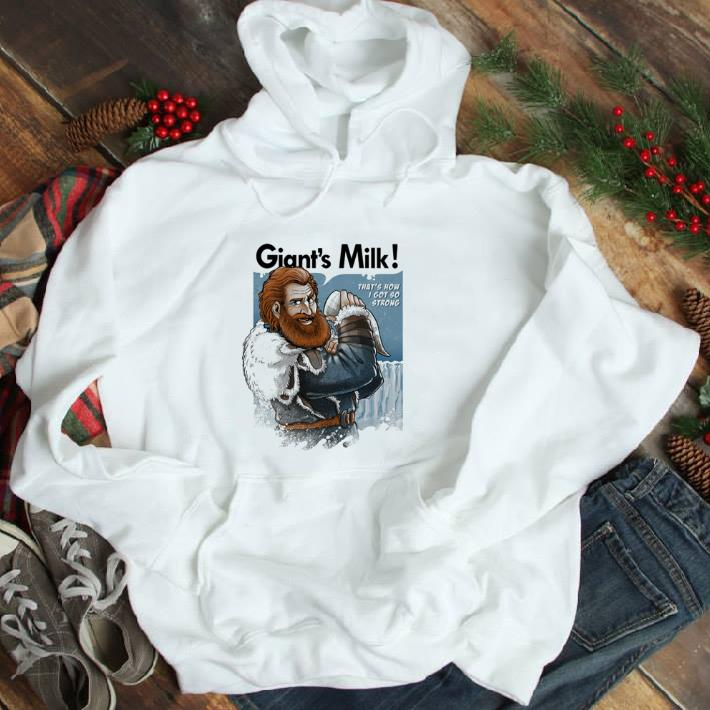 Official Tormund Giantsbane Giant's Milk that's how i got so strong GOT shirt