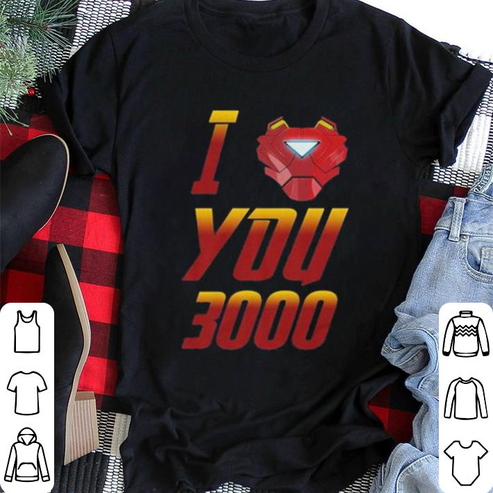 5980ae93 Pretty I love you 3000 Avengers Endgame Iron Man Tony Stark shirt ...