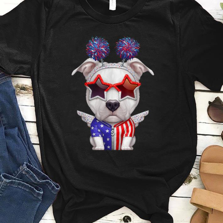 Awesome White Pit Bull Terrier With The Angel Wings Usa Independence Day Shirt 1 1.jpg