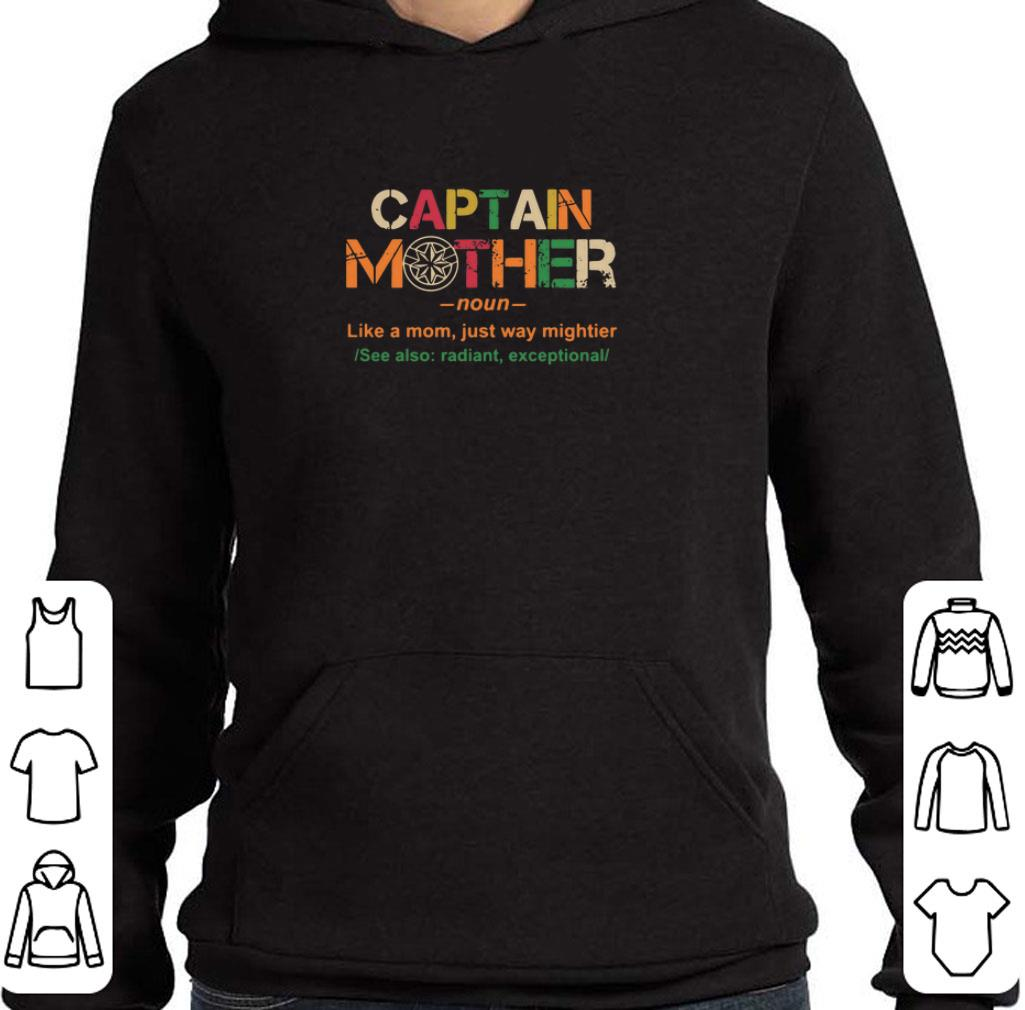 Premium Captain Mother like a mom just way mightier shirt