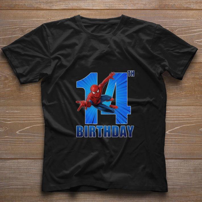 Premium Spiderman Swinging 14th Birthday Shirt 1 1.jpg