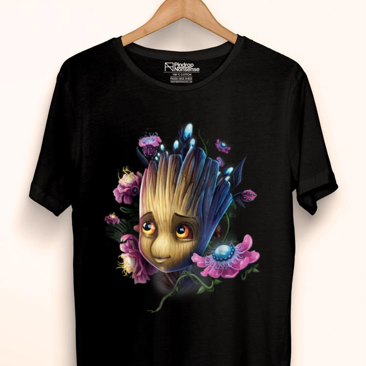 Official Marvel Guardians Of The Galaxy Groot Flowers Graphic Shirt 1 1.jpg