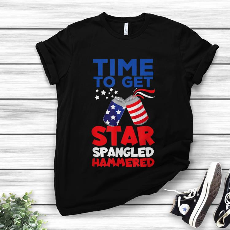 Premium America Beer Cans Time To Get Star Spangled Hammered Shirt 1 1.jpg