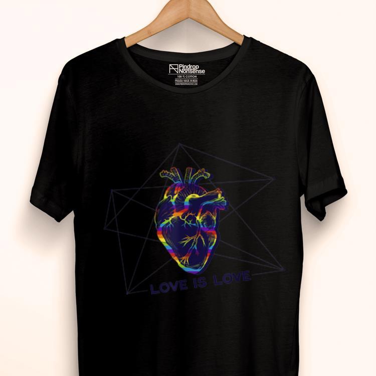 Premium Love Is Love Heartbeat Rainbow Heart Lgbt Gay Lesbian Pride Shirt 1 1.jpg