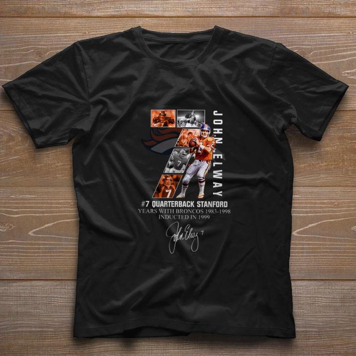 Awesome 7 John Elway Quarterback Stanford Years With Broncos 1983 1998 Recovered Shirt 1 1.jpg