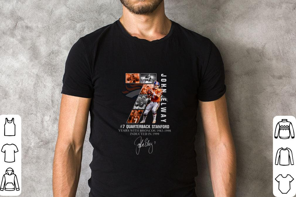 Awesome 7 John Elway Quarterback Stanford Years With Broncos 1983 1998 Recovered Shirt 2 1.jpg