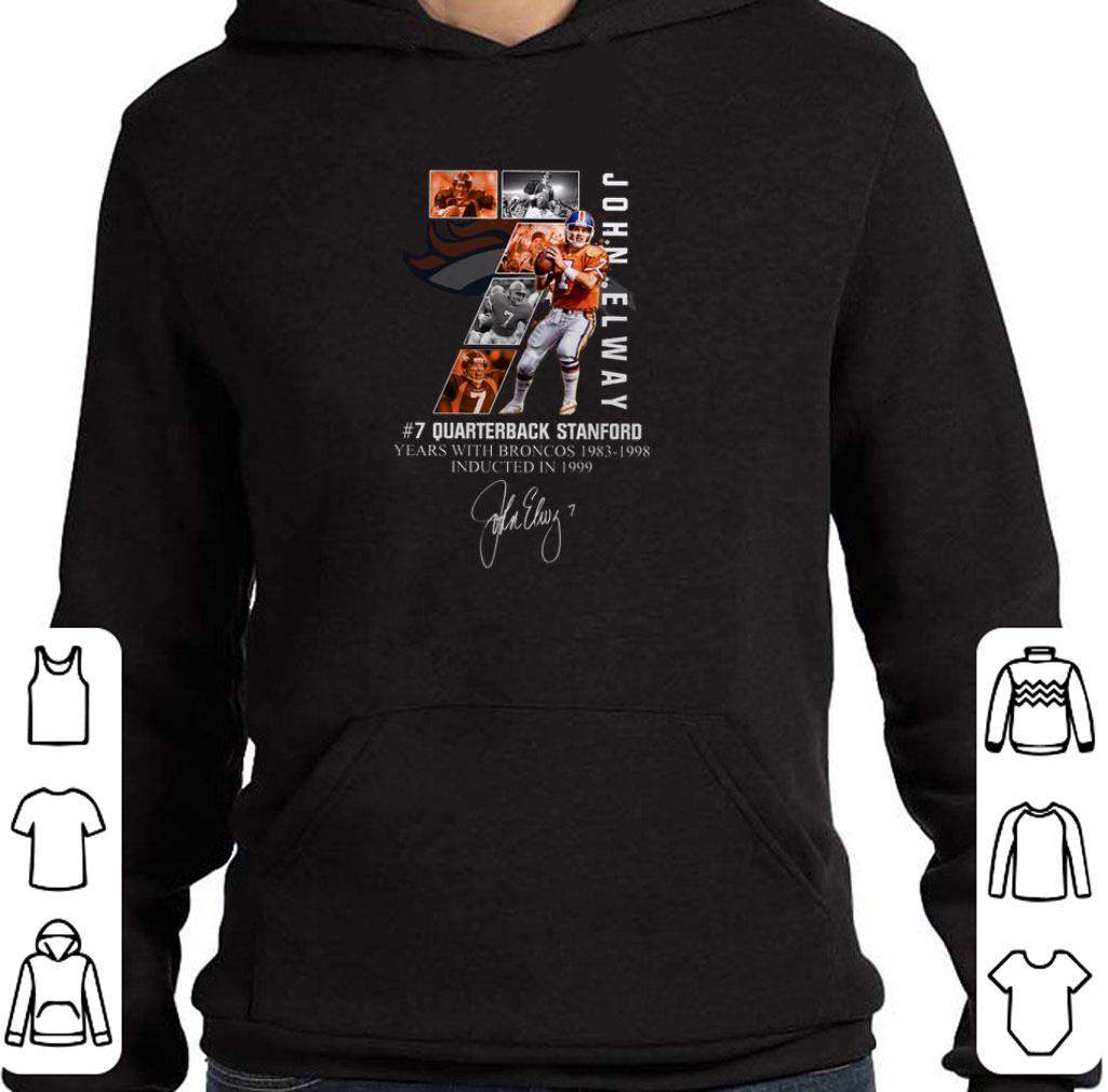 Awesome 7 John Elway Quarterback Stanford years with Broncos 1983-1998-Recovered shirt