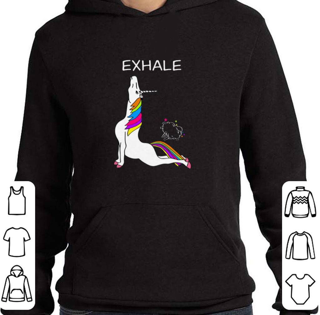 Official Yoga Unicorn exhale shirt