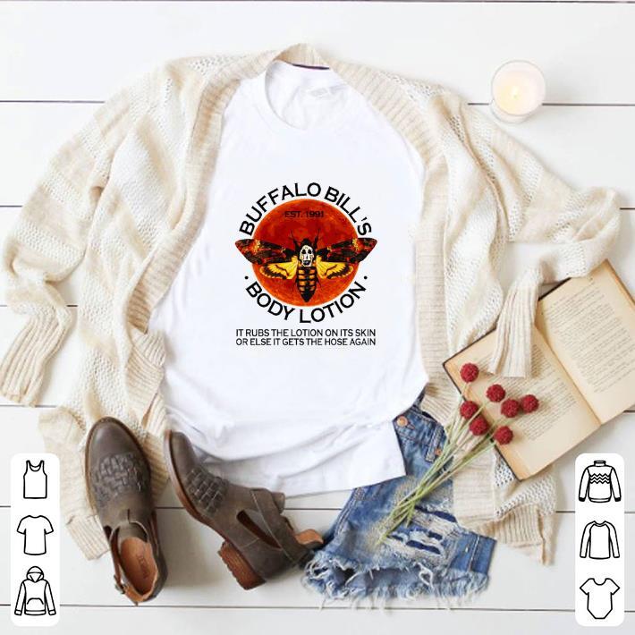 Premium Buffalo Bill's est. 1991 body lotion it rubs the lotion sunset shirt
