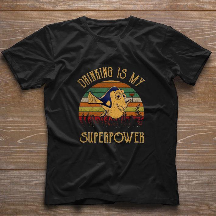 Premium Dory Wine Drinking Is My Superpower Vintage Shirt 1 1.jpg