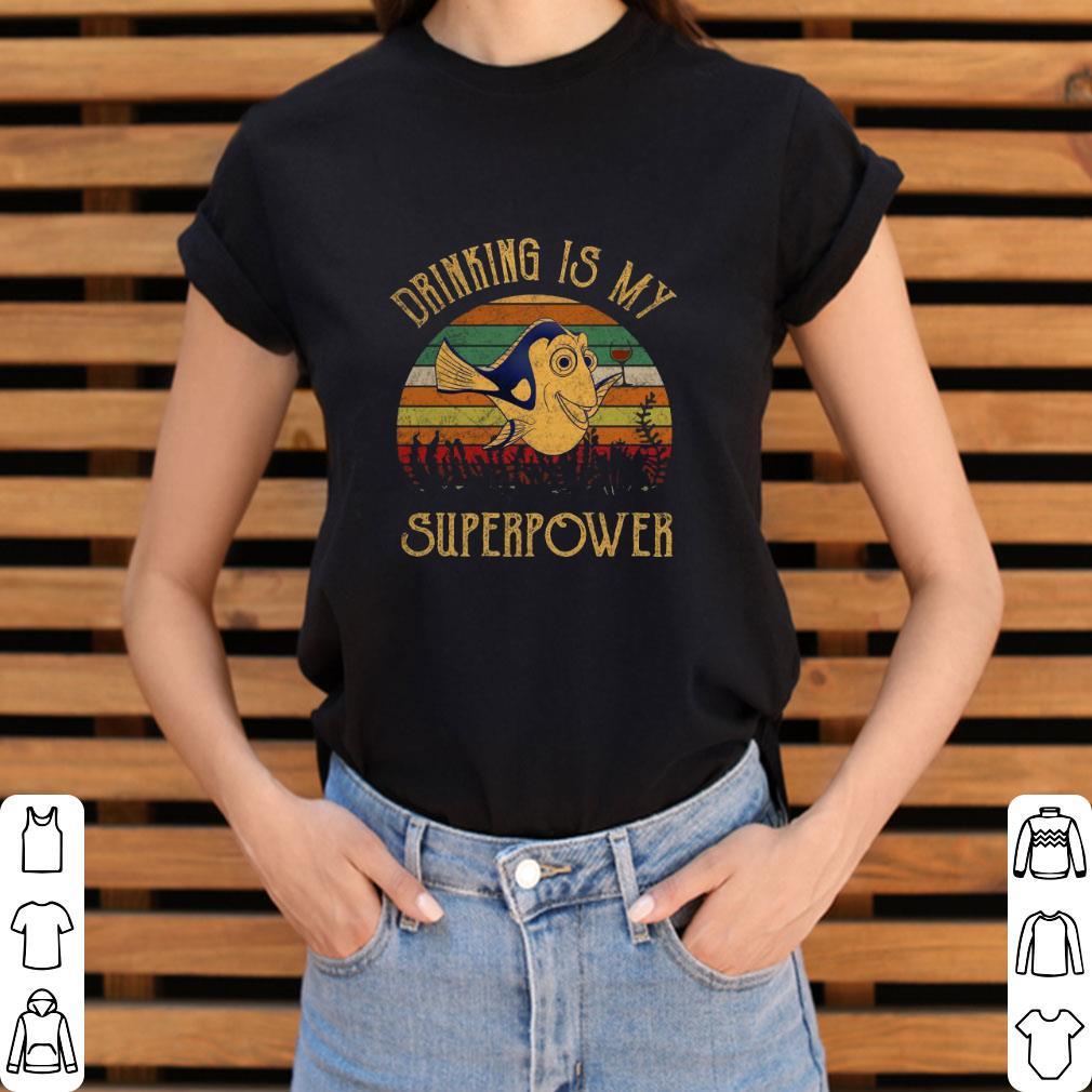 Premium Dory Wine Drinking Is My Superpower Vintage Shirt 3 1.jpg