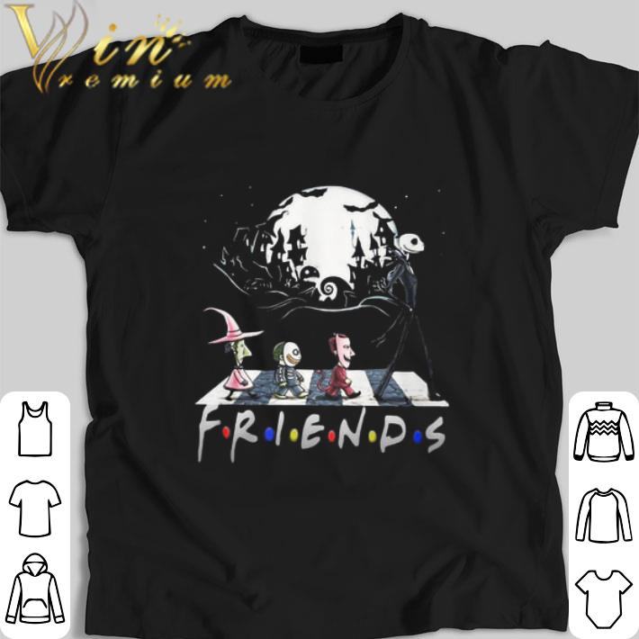 Halloween Friends Shirt.Premium Friends The Nightmare Before Christmas Abbey Road Halloween Shirt