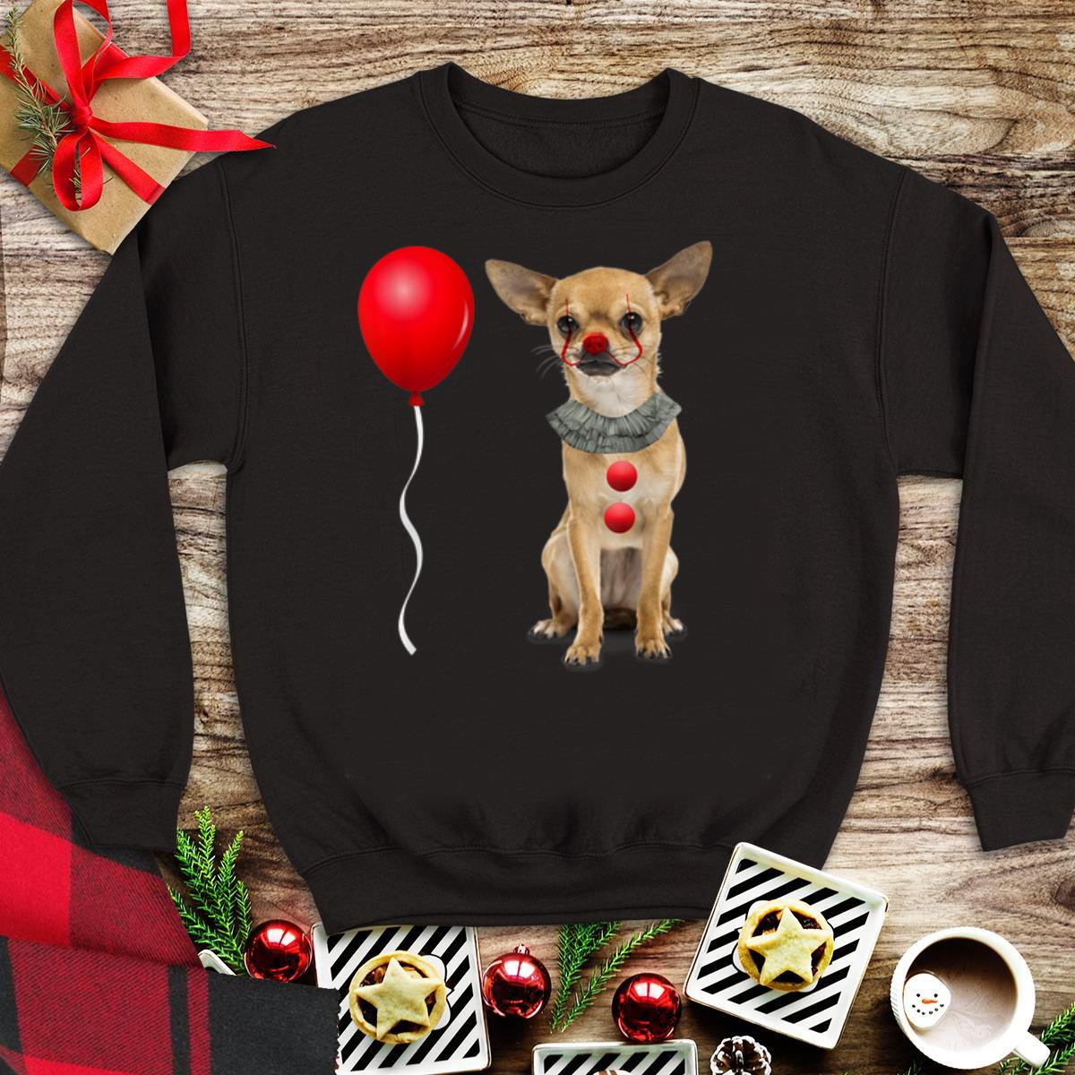 Awesome Chihuahua Scary Pennywise Halloween Costume Shirt 1 1.jpg