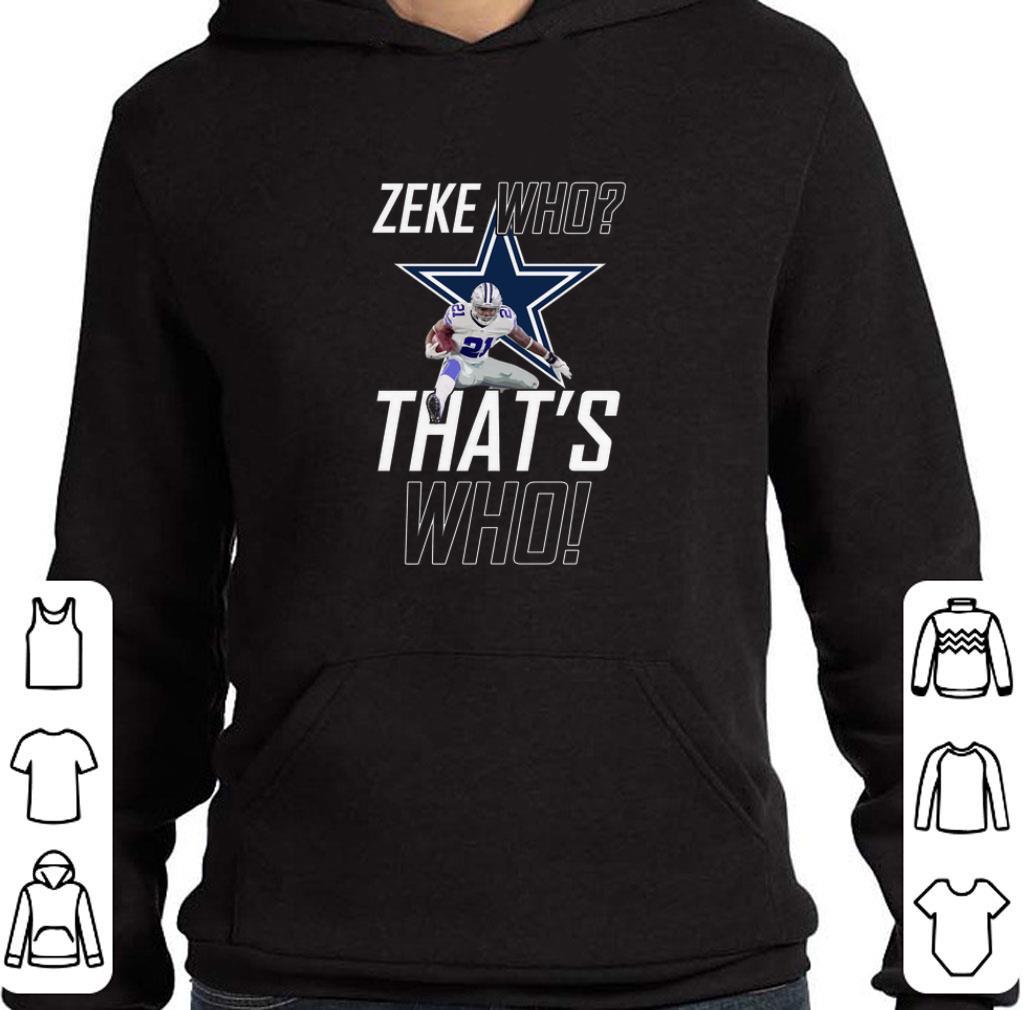Funny Ezekiel Elliott Zeke Who That's Who Doctor Who Dallas Cowboys shirt