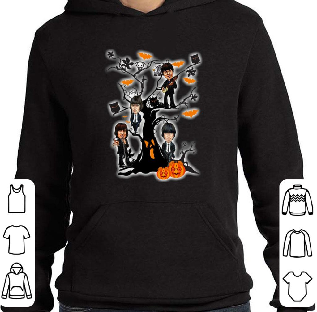 Official The Beatles ghost boo pumpkin on the tree Halloween shirt