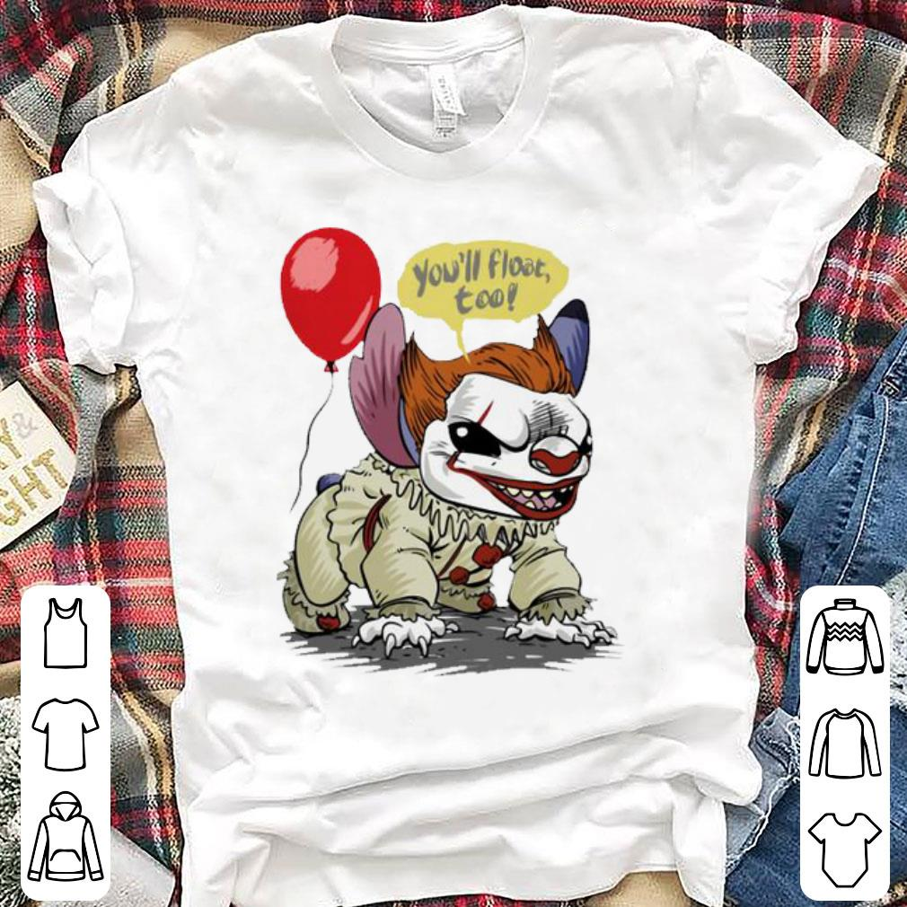 Premium Stitch You Ll Float Too Pennywise Halloween Shirt 1 1.jpg