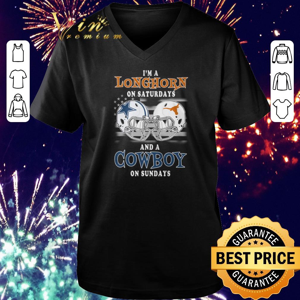 Top I M A Texas Longhorns On Saturdays And A Dallas Cowboys On Sundays Shirt 1 1.jpg