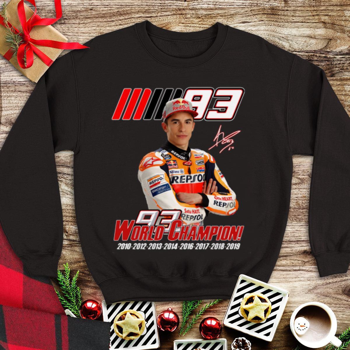 cała kolekcja nieźle najwyższa jakość Awesome MM93 World Champion Marc Marquez shirt, hoodie ...