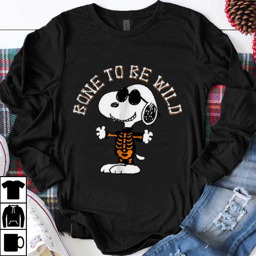 Nice Peanuts Halloween Snoopy Bone To Be Wild Shirt 1 1.jpg