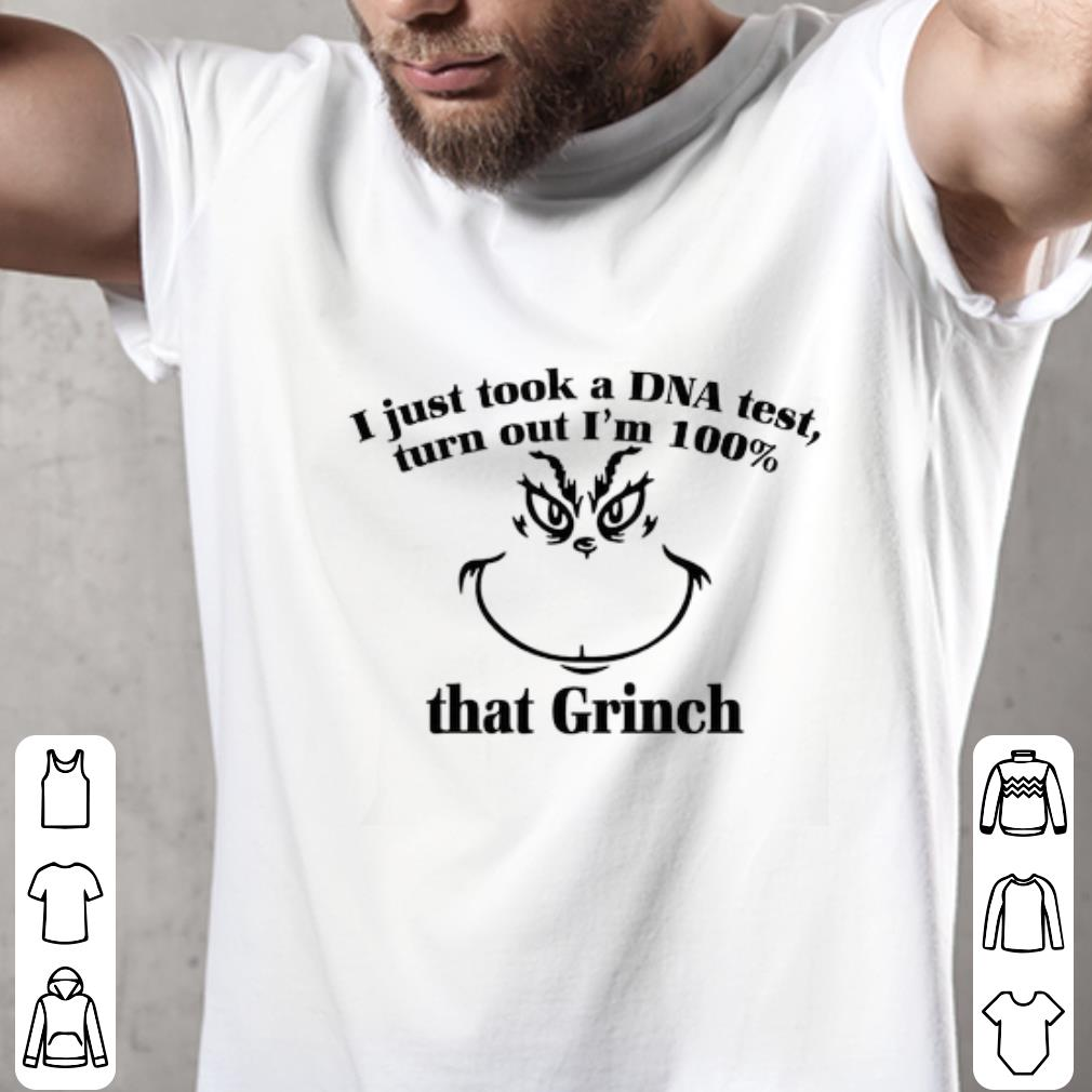 Original I Just Took A Dna Test Turns Out I M 100 That Grinch Face Shirt 2 1.jpg