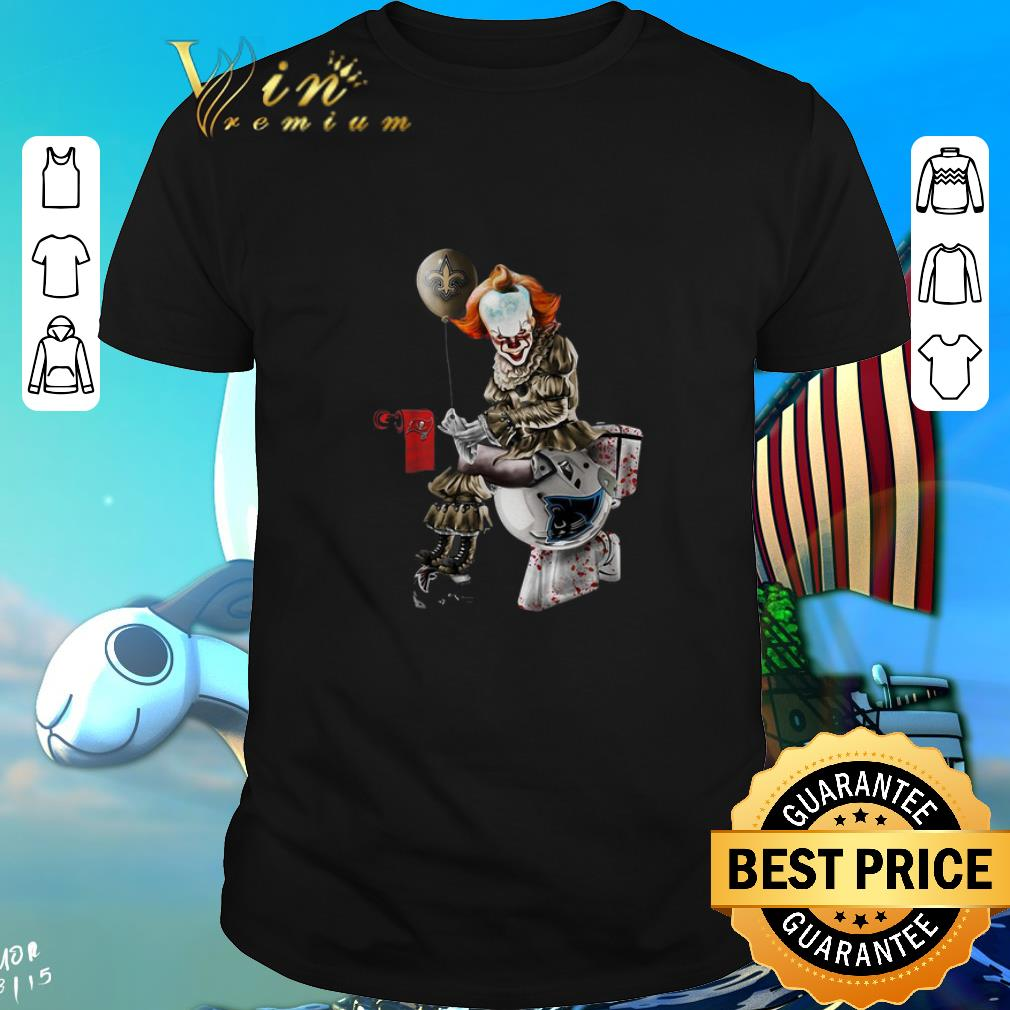 Pretty Pennywise New Orleans Saints Buccaneers Carolina Panthers Toilet Shirt 1 1.jpg
