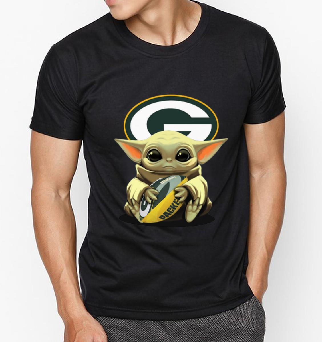 Premium Baby Yoda Hug Green Bay Packers Shirt Hoodie Sweater Longsleeve T Shirt