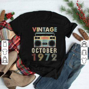 Cassette Vintage October 1972 shirt