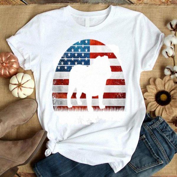 4th Of July English Bulldog America Distressed Flag Sunset Shirt
