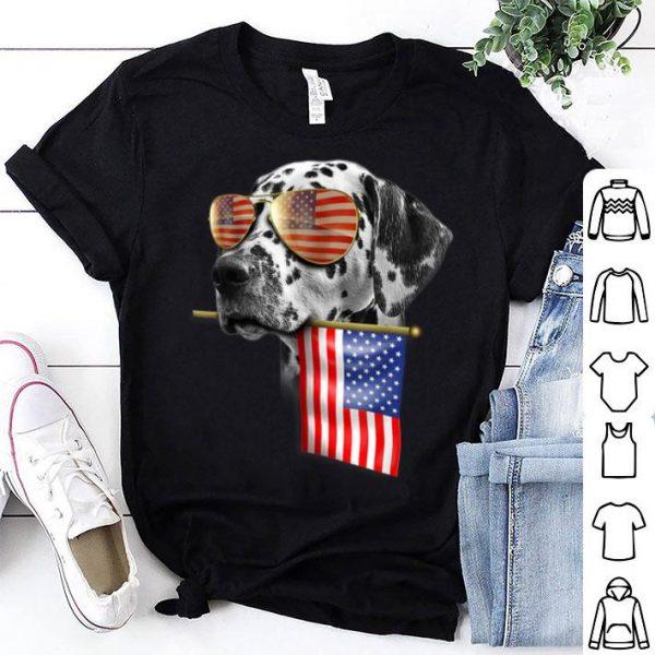 4th Of July Fun American Flag Dalmatian Dog Lover Gift Shirt