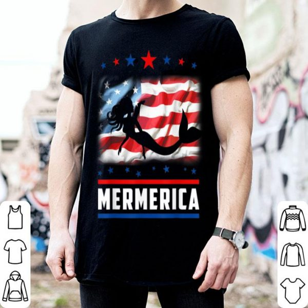 4th Of July Mermerica American Flag Mermaid shirt