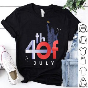 4th of July liberty statue idea american flag shirt