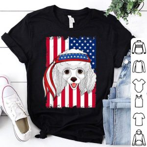 4th of July merica patriotic USA Flag poodle shirt