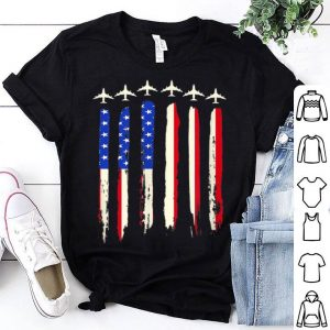 Air Force Flyover 4th Of July Independence Day American Flag Shirt
